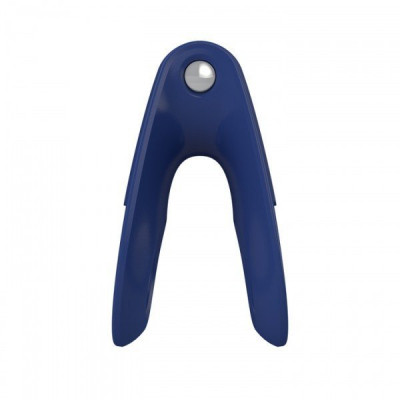 Подвійне ерекційне кільце з вібрацією OVO - синій – фото 1