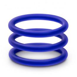 Набор синих эрекционных колец , 3 шт – фото