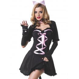Костюм Кішки чорної сукні 5 предметів M/L – фото