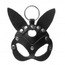 Кожаный брелок БДСМ маска Зайца  – фото