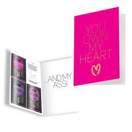 Подарункова листівка з набором Сашетов плюс конверт Kamasutra You Own My Heart – фото
