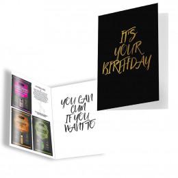 Подарункова листівка з набором Сашетов плюс конверт на День Народження Kamasutra – фото