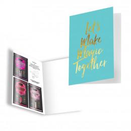 Подарункова листівка з набором Сашетов плюс конверт Kamasutra Let's Make Magic Together – фото
