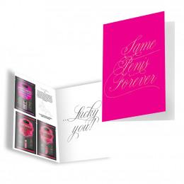 Подарочная открытка с набором Сашетов плюс конверт Kamasutra Same Penis Forever клубничка – фото
