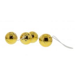 Вагинальные шарики 4 GOLD VIBRO BALLS – фото
