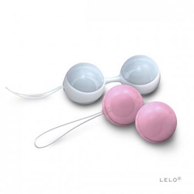 Шарики мини Луна от LELO - голубой/розовый – фото 1