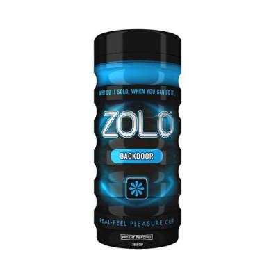 Мастурбатор ZOLO с имитацией анального секса - синий – фото 1
