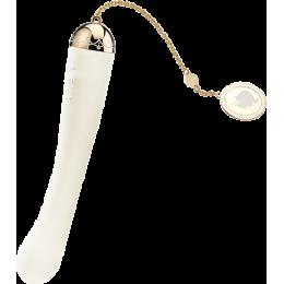 Вібратор ZALO Momoko з підключенням до телефону, ванільний білий – фото
