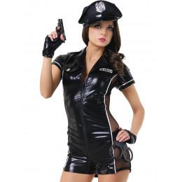 Костюм поліцейська шорти 6 предметів LeFrivole M/L – фото