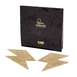 Прикраса для грудей Flash золотиста блискавка, Bijoux Indiscrets – фото