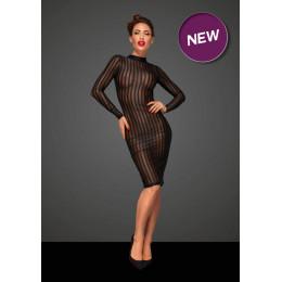 Напівпрозоре сексуальне плаття в смужку Noir Handmade XL, чорне – фото