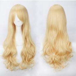 Парик без чёлки, длинный кудрявый блонд  Kooi – фото